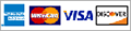 American Express, MasterCard, Visa and Discovery Accepted