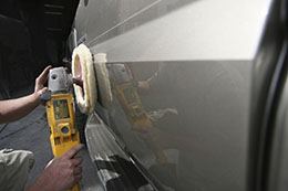 Buffing auto body surface
